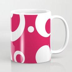 Circles Dots Bubbles :: Geranium Mug