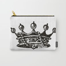 Royal Crown | Black and White Carry-All Pouch