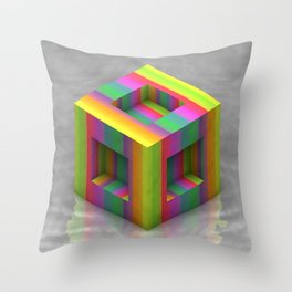Shift Cubed Throw Pillow