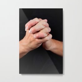 Hands folded in prayer Metal Print