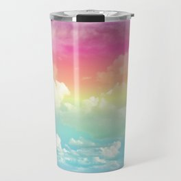 Clouds in a Rainbow Unicorn Sky Travel Mug