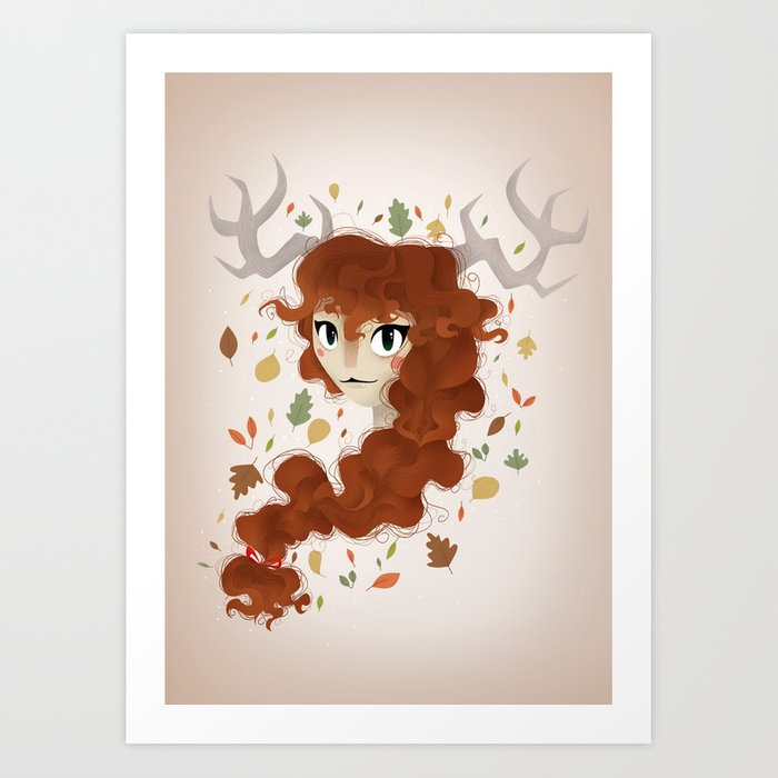 Spitit of the forest Art Print