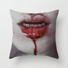 Blooood Throw Pillow