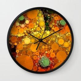 Sunset Poppies Wall Clock