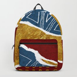Torn Abstract Art 01 Backpack