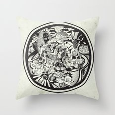 Circle Doodle Throw Pillow