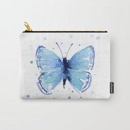 Blue Butterfly Watercolor Butterflies Animals Carry-All Pouch
