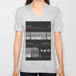 NYC Subway Unisex V-Neck