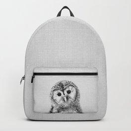 Baby Owl - Black & White Backpack