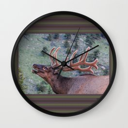 Elk Calling | Rocky Mountains Wall Clock