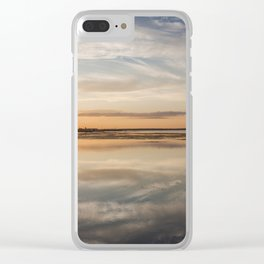 Baltic sea and sunset Clear iPhone Case