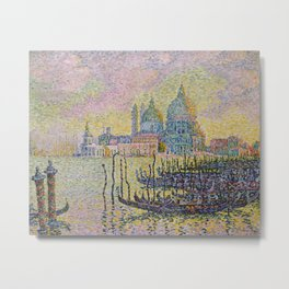Grand Canal (Venice) - Paul Signac Metal Print
