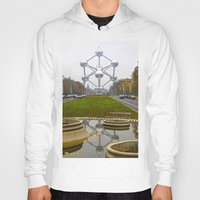 brussels Hoodies featuring Atomium Brussels Painted Photography by Premium