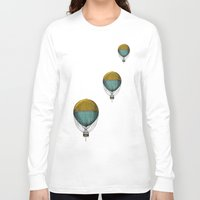 hot air balloons Long Sleeve T-shirts featuring Hot Air Balloons by Juste Pixx Designs