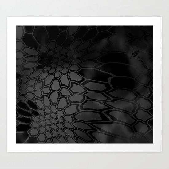 Typhon Camouflage Pattern Art Print