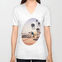 posters V-neck T-shirts featuring Fear and Loathing on Tatooine by Anton Marrast