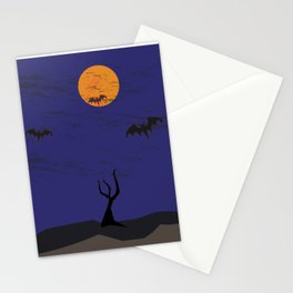 Harvest Moon and Bats! Stationery Cards