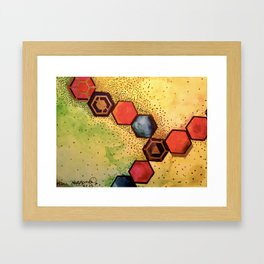 Sacred Honeycomb (2015) Original Painting Framed Art Print