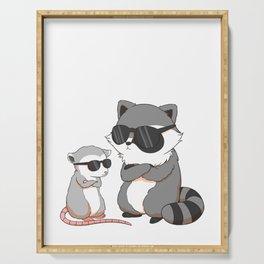 Garbage Gang - Cool Raccoon & Sassy Possum Serving Tray