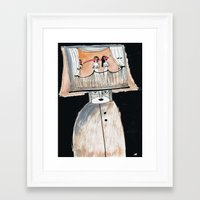 theater Framed Art Prints featuring Theater  by Bunny Noir