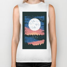 Starry Pixel Night Biker Tank