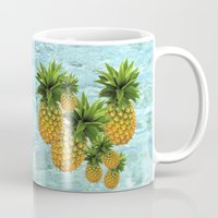 pineapples Mugs featuring Pineapples by Erika Kaisersot