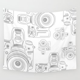 Grey Cameras Wall Tapestry