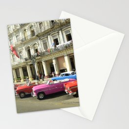 Vintage cars in Havana, Cuba Stationery Cards