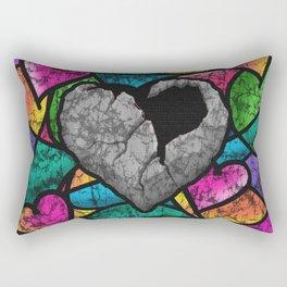 Concrete Heart Holds No Love Rectangular Pillow