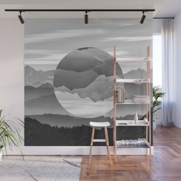 Geo Nature Mountains Wall Mural