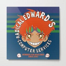 Classic Anime Otaku Computer Tech Geek Radical Edward Wonders for Woolongs Metal Print