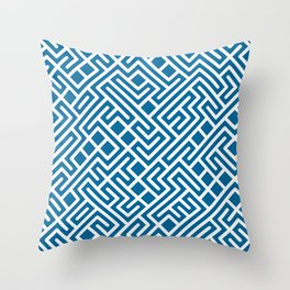 10 Print: Bold Blue Throw Pillow