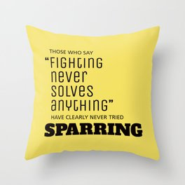 Sparring Throw Pillow