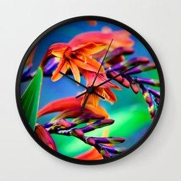 Blooming Crocosmia Wall Clock