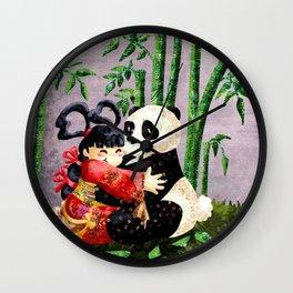 the princess and the panda Wall Clock
