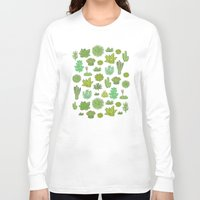 succulents Long Sleeve T-shirts featuring Succulents by Anna Alekseeva kostolom3000