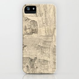 Vintage Pictorial Map of The Grand Canyon (1895) iPhone Case