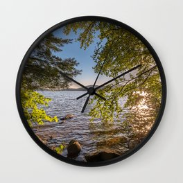 Secret Place By The Lake Wall Clock