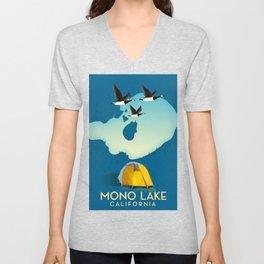 Mono Lake California USA map Unisex V-Neck