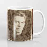 bowie Mugs featuring Bowie by Little Bunny Sunshine