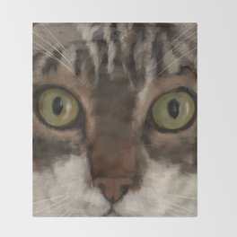 Cat Closer Throw Blanket