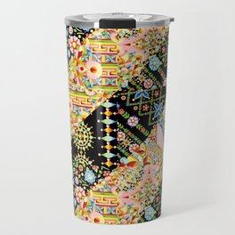 Crazy Patchwork Triangles Travel Mug
