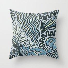 OCEAN CRUST Throw Pillow