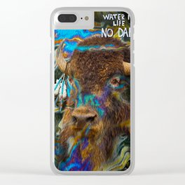 Buffalo in Oil Clear iPhone Case
