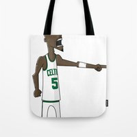 kevin russ Tote Bags featuring Kevin Garnett by frappeboy