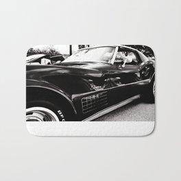 Black Chevrolet Corvette Stingray  Bath Mat