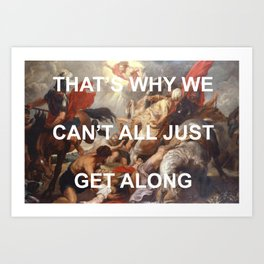 Putting Shame In Your Conversion Art Print