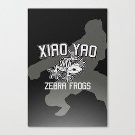 Xiao Yao Zebra Frogs Canvas Print