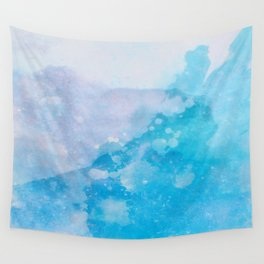 Blue splashes Wall Tapestry