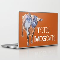 "totes Laptop & iPad Skins featuring ""Totes McGoats!"" ~ Nigerian Dwarf Goat Pop Art Photography!  Gotta Love the Goaty-Woaties! by Canis Picta"
